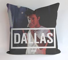 Cameron Dallas 1994 Pillow Cases This pillow cover made from high quality drapery weight 50% cotton fabric and 50% Polyester with hidden zipper closure. All seams are surged to prevent fraying for lon