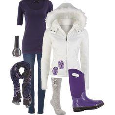 Winter Fashion - Bogs Footwear Women's Classic Hi in Linen Plum