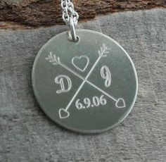 Love Birds Wedding Anniversary Personalized Necklace - Engraved