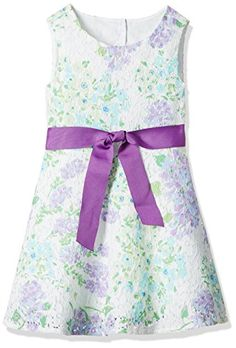 The Children's Place Big Girls' Floral Lace Dress, Purple
