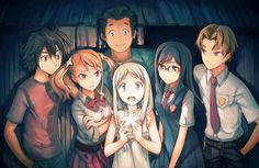 anohana. Literally one of the saddest animes ever.