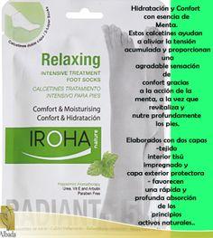 Calcetines Menta: Hidratación y confort con esencia de menta. #Iroha #Albada