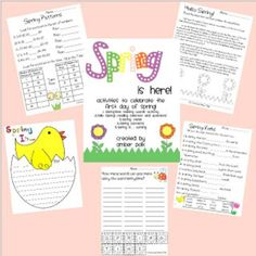 Teach Junkie: 5 Spring Writing Templates {Free Download} - Spring Pack ...Perfect for matching your ela standards, you've now got the perfect choice of backdrops for your writing lesson plans. You'll find writing templates for exploring the five senses, including multiple steps in a prompt, and themed stationary...