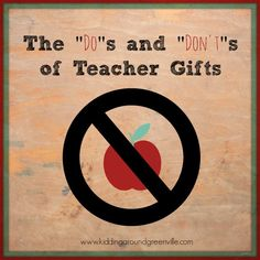 Better keep this list handy for when teacher gifts come up in a couple weeks!