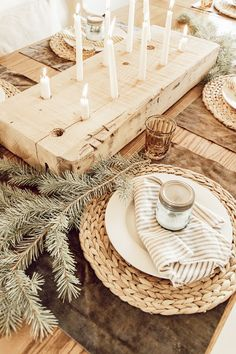 My Cozy Hygge and Scandinavian Inspired Christmas Table Decor - Twelve On Main Hygge Christmas, Nordic Christmas, Rustic Christmas, Simple Christmas, Christmas Home, Beautiful Christmas, Christmas Trees, Scandinavian Christmas Decorations, Christmas Table Decorations
