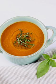 20-Minute Tomato Basil Soup | Guest Post from Simply Nourished Recipes | Real Food with Dana