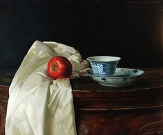 Wang Weidong Натюрморт с Teacup и Apple 21-го века