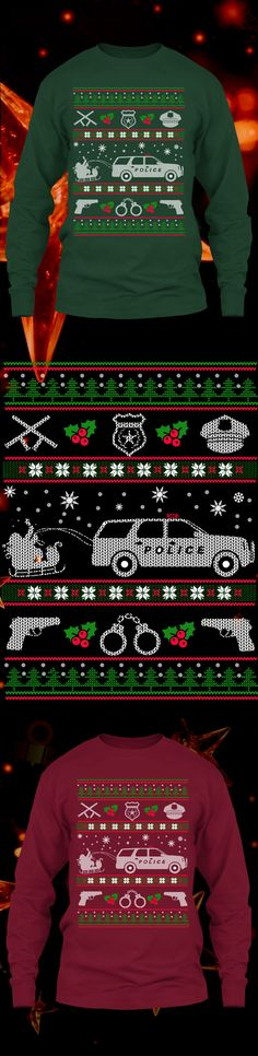 Police Christmas Sweater - Get this limited edition ugly Christmas Sweater just in time for the holidays! Click to buy now!
