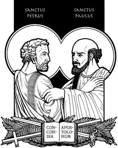 The Feast of Sts. Peter and Paul June 29th. Feast Day activities, foods, and books! #Catholic #Bible #Apostle