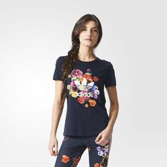 adidas - Floral Graphic Tee