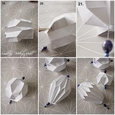 Origamianhänger, Plisseeanhänger selber falten