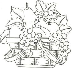 a basket of fruits drawing a basket of fruits drawing fruit coloring basket pages fruits best images on drawings skillful fruit fruits basket drawing style Fruit Coloring Pages, Fall Coloring Pages, Coloring Books, Fruit Basket Drawing, Embroidery Patterns, Hand Embroidery, Fruits Drawing, Digi Stamps, Pictures To Draw