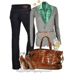 fall outfits polyvore   Fall/Winter Outfits / MAVI Bootcut Jeans, created by uniqueimage on ...