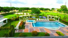 Augustine Grove by Crown Asia - Swimming Pool Big Houses, Elegant Homes, Inspired Homes, Home Builders, Canopy, Countryside, Swimming Pools, The Neighbourhood, Asia