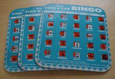 1950s Vintage Regal Find A Car BINGO Game  by retrowarehouse