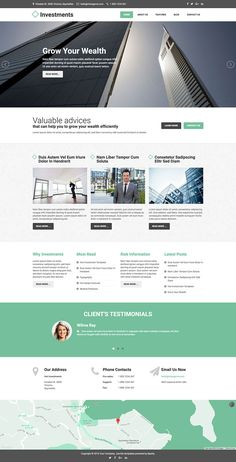 Investments is a #responsive corporate #Joomla #template suitable for websites for financial institutions.