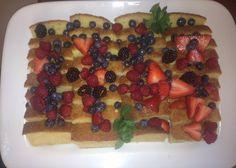 Citrus Pound Cake w/ berries