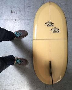 """We've done alot of custom bags but this is a first… 3'11"""" canvas board bag with fin slot for Grom King out of Costa Mesa for his Greek paipos / kneeboard!"""
