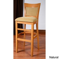 @Overstock - Hyatt Wood Barstool - The Hyatt barstool has a simple yet elegant design that will enhance your dining room. Made of solid beechwood, this barstool comes in a natural and walnut color.   http://www.overstock.com/Home-Garden/Hyatt-Wood-Barstool/8569284/product.html?CID=214117 $128.69