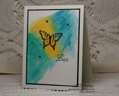 Watercolor Splotches Card
