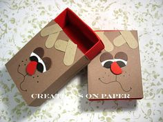 Stampin' Up!  Matchbox  Kay Sha  Reindeer