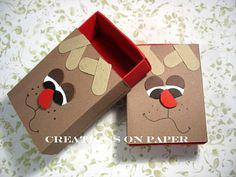 Stampin' Up!  Matchbox  Kay Sha  Reindeer