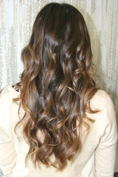 fall color - caramel brunette highlights