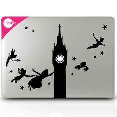 Peter Pan Macbook Decal por stikrz en Etsy