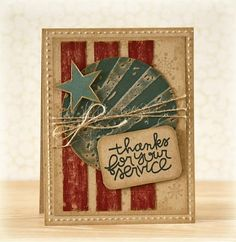 by Laurie using Circle of Honor stamp on kraft coredinations cardstock