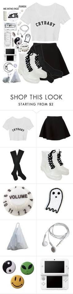 """""""they call u crybaby but u dnt fuuckin care"""" by aaliviaa ❤ liked on Polyvore featuring Neil Barrett, Fogal, Mokuyobi Threads, Nintendo and Guide London"""