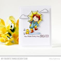 Stamps: Puddle Jumper, Rain or Shine  Die-namics: Puddle Jumper, Rain or Shine    Vika Salmina  #mftstamps