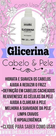 RECEITAS COM GLICERINA PARA O CABELO E A PELE