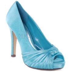 Blue shoe.