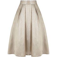 Coast Penny Skirt (136.935 CLP) ❤ liked on Polyvore featuring skirts, bottoms, saias, metallics, box pleat skirt, a line skirt and pocket skirt