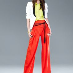 Live the wide pants and neon colors