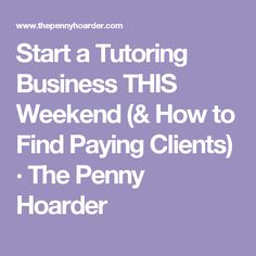 Tutoring Business: Starting a Tutoring Business: Seven Important ...