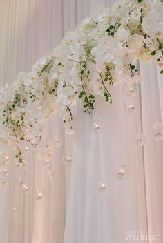 Glamorous Gold and White Toronto Wedding at Graydon Hall Manor - MODwedding Featured Photographer: Mango Studios; Wedding Stage, Mod Wedding, Wedding Events, Wedding Ceremony, Rustic Wedding, Wedding White, Purple Wedding, Elegant Wedding, Wedding Colors