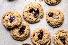 horizontal overhead photo of Browned Butter Coconut Chocolate Chip Cookies