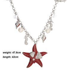 Newest oceans series necklace silver gold plated cute necklace women Starfish conch pendant women choker necklace 2016
