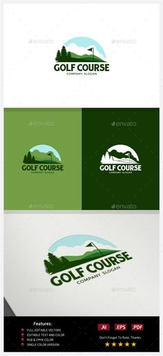 Golf Course - Logo Design Template Vector #logotype Download it here: http://graphicriver.net/item/golf-course-logo/10219150?s_rank=1310?ref=nexion
