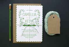 Letterpress Wedding Invitations by Avenue Litho Team , via Behance