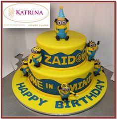 2 Layer Minion Cake Design
