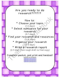 how to write a research report