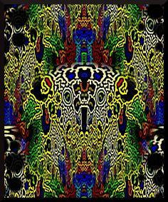 """""""Ave precolombina""""  Composición abstracta resultado de la fotomanipulación digital con Gimp.  Ver más en: www.librecreacion.net www.sirenasinmar.blogspot.com www.facebook.com/SugarherArts Facebook, Abstract"""