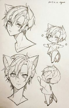 Cute Sketches, Anime Drawings Sketches, Cute Drawings, Manga Art, Anime Art, Anime Boy Sketch, Manga Drawing Tutorials, Anime Poses Reference, Kawaii Art