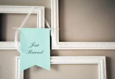 Just Married Celebration Banner by Go Against The Grain on Etsy #wedding