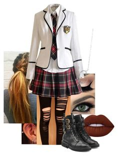"""""""Untitled #292"""" by krisxinfinity on Polyvore featuring Lime Crime, WithChic, Giuseppe Zanotti and BERRICLE"""