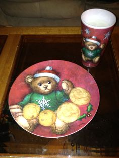 Milk and homemade Snickerdoodle cookies for Santa (2011)!