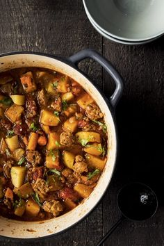 Italian sausage stew with butternut squash - K for . - Italian sausage stew with butternut squash – K for Katrine Chorizo Recipes, Soup Recipes, Yummy Recipes, Clean Eating Snacks, Healthy Eating, Sausage Stew, Confort Food, Sauce, Vegetable Recipes