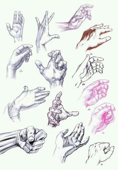 Hände zeichnen TONS of hands drawn in different positions. I feel like doing this would be a great learning experience Painting & Drawing, Life Drawing, Figure Drawing, Drawing Lessons, Drawing Sketches, Art Drawings, Sketching, Drawing Ideas, Drawing Poses